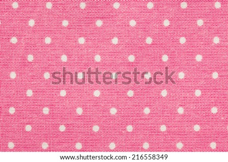 The real polka dots background. Shot of napkin. - stock photo