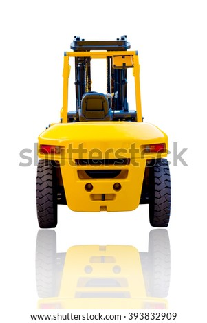 the rear of the forklift - stock photo