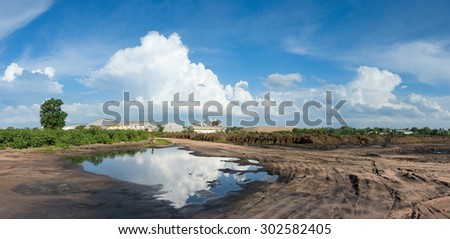The Recycling Zone from sugar factory in thailand  - stock photo