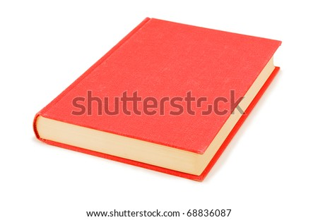 The red book on white a background
