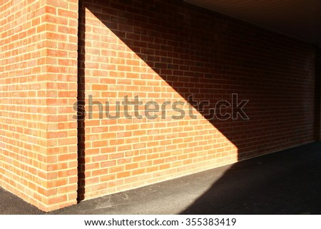 The red brick concrete wall represent the construction concept related idea.