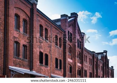 The Red Brick Warehouse in Yokohama city, Japan at morning. - stock photo