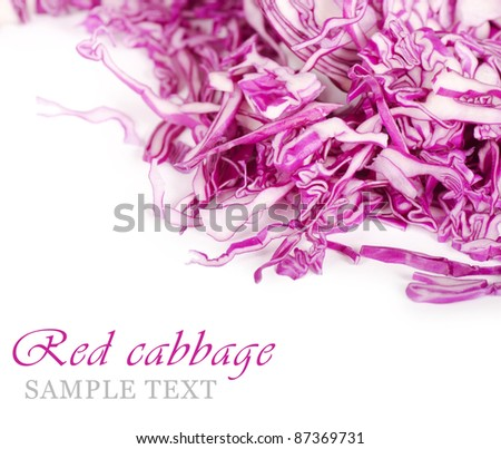 The red cabbage isolated on white background