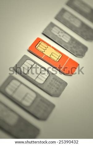 the red card among other - stock photo
