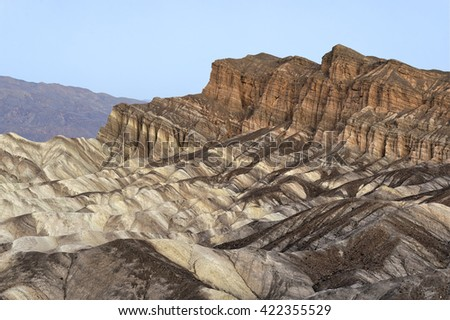 The Red Cathedral, Death Valley National Park, California - stock photo