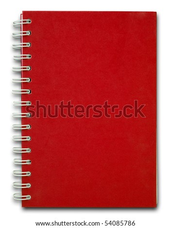 The red cove of Note book for use - stock photo