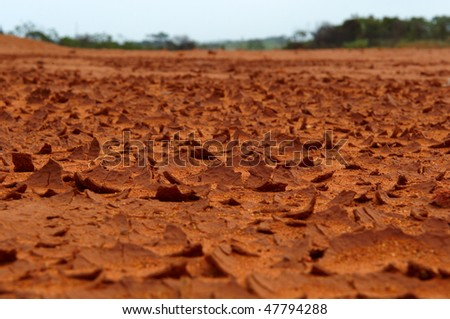 The Red Desert Natal South Coast South Africa - stock photo