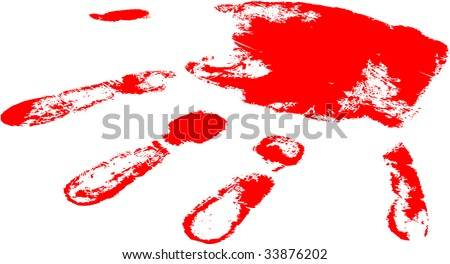 the red raster hand print (vector version in portfolio)