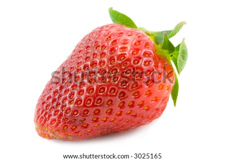 the red strawberry isolated on white background
