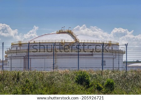 The refinery fuel tank - stock photo