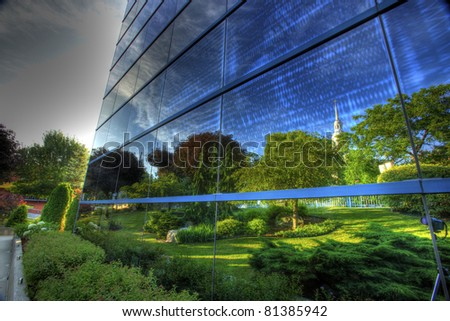 the reflection - stock photo