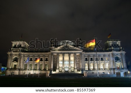 The Reichstag building in Berlin. Alemania.
