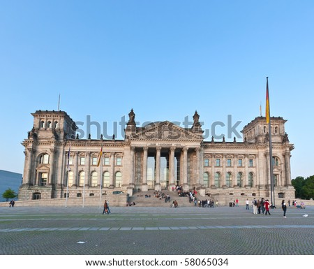 The Reichstag building in Berlin City Germany - stock photo