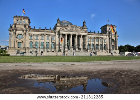 The Reichstag building in Berlin: German parliament