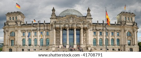 The Reichstag building of German government in Berlin. - stock photo