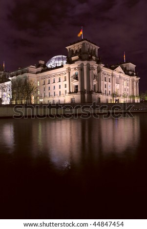 The Reichstag building (1884-1894) seat of the German parliament, Berlin, Germany