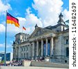 The Reichstag building (1884-1894) seat of the German parliament, designed by Paul Wallot, Berlin, Germany - stock photo