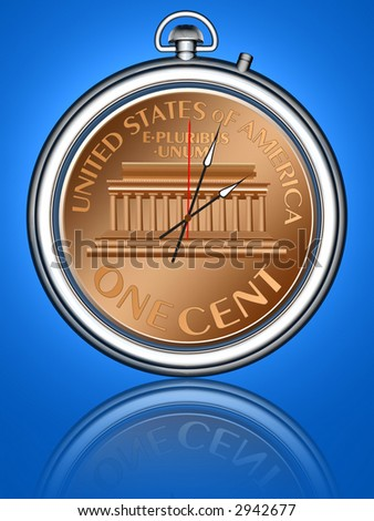 The relationship between time and money.Conceptual image. - stock photo