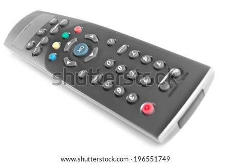 the remote-control, isolated - stock photo