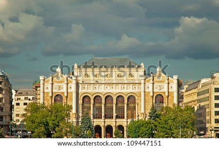 The renovated Vigado in Budapest, Hungary - stock photo