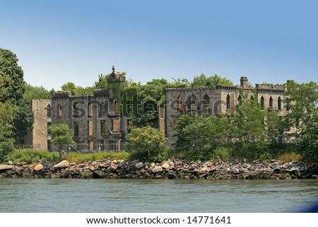 The Renwick Ruins on Roosevelt Island - stock photo