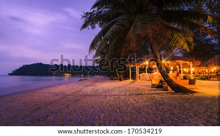 the resort in thailand - stock photo