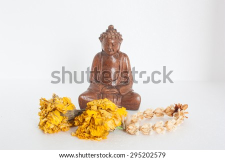 The respect of the people, Buddhism - stock photo