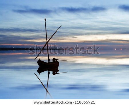 the rest of the boat - stock photo