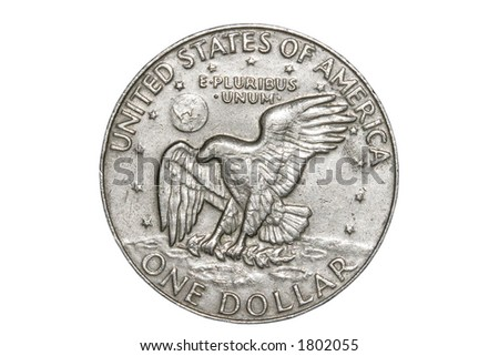 The Reverse side of US Silver Dollar