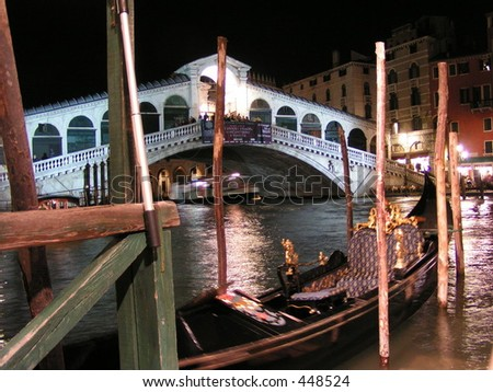 The Rialto Bridge at Night, Venice