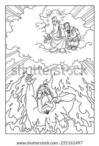 rich man suffering hellfire asks lazarus stock illustration Rich Man and Lazarus Clip Art Rich Man and Lazarus Meaning