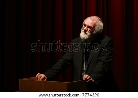 The Right Reverend Dr Rowan Williams, Archbishop of Canterbury and head of the Anglican Church - stock photo