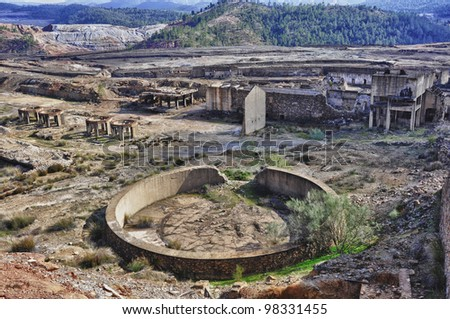 The Riotinto mining area, Andalusia, Spain - stock photo