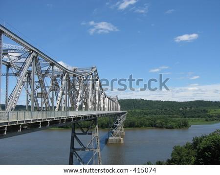 The Rip Van Winkle Bridge - stock photo