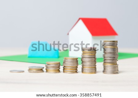 The rising cost of living. The increasing charges. - stock photo
