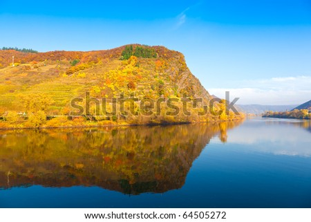 The river Moselle (Mosel) near Cochem, Germany - stock photo