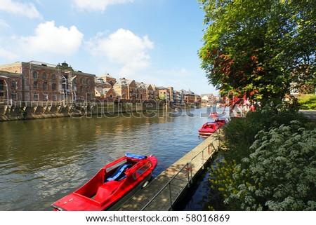 The River Ouse in the city of York, UK - stock photo