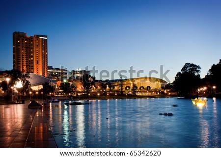 The River Torrens in Adelaide, Australia - stock photo