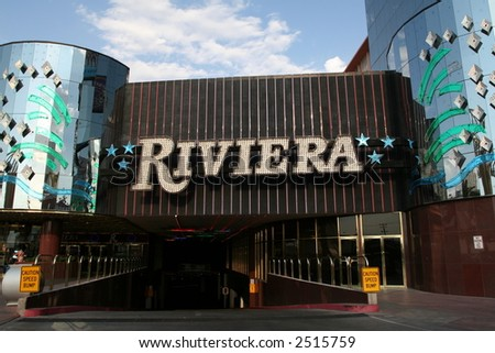 the Riviera Hotel in Las Vegas, Nevada - stock photo