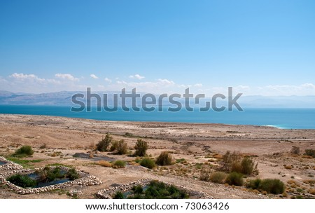 The road along the Dead Sea. - stock photo