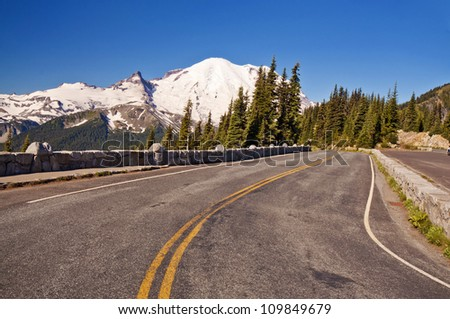 The Road at Sunrise Point - stock photo
