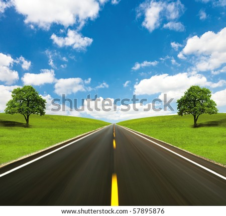 The road forward - stock photo
