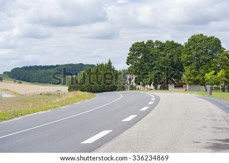 The road from Wiesbaden (Germany) to Nancy (France). Shooting in the summer of 2013. - stock photo