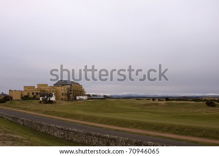 The Road Hole, St Andrews - stock photo