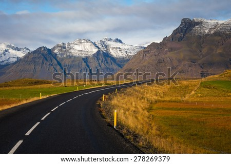 The road number one. South Iceland - stock photo