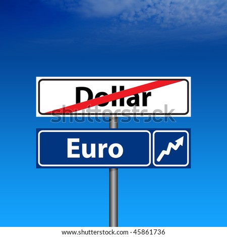 The Road Sign The end of dollar, euro up