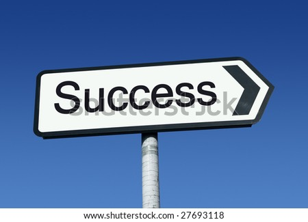 The road to success. - stock photo