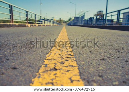 The road towards the target - stock photo