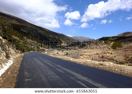 The road was recently built on a high mountain, It is used for transportation between cities