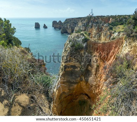 The rock Algarve at Ponta da Piedade, Portugal